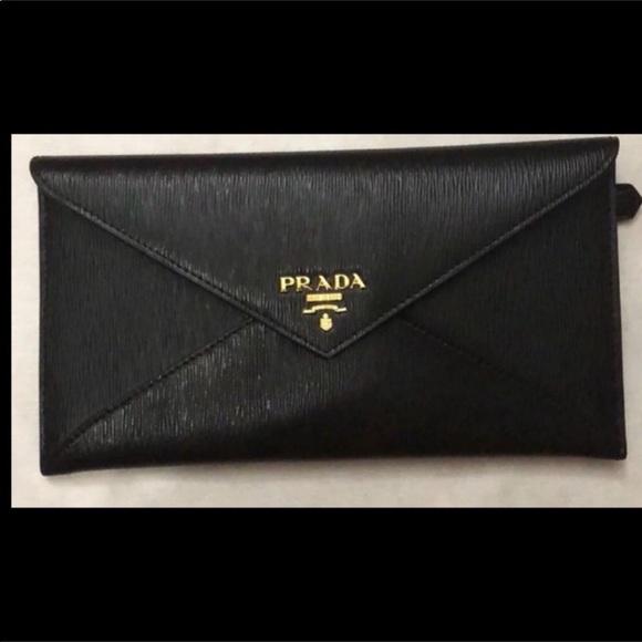 45db579162f6 Prada Bags | Reserved For Megan Envelope Clutchwallet | Poshmark